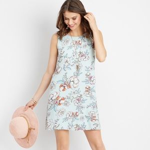 Maurice's floral lattice neck shift dress